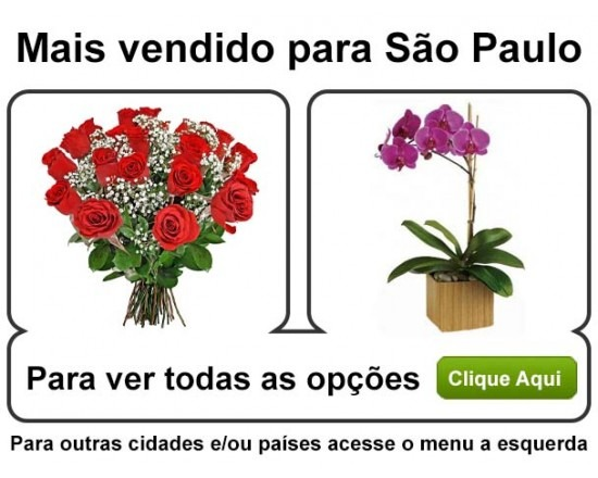 Flores para Sao Paulo