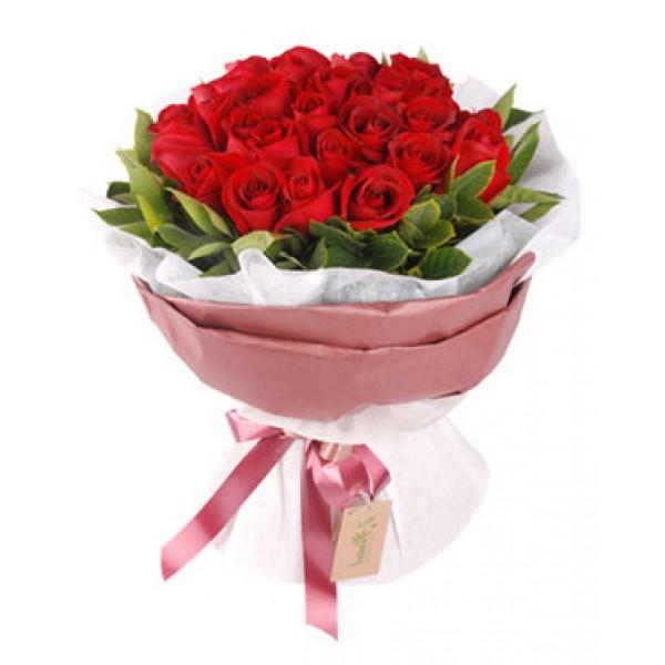 12 rosas vermelhas via flores china - Rosas chinas ...